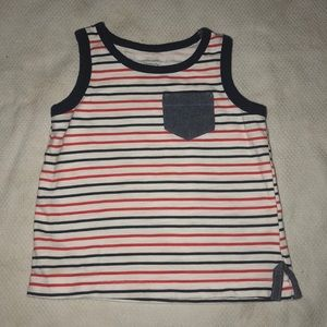 Red white and blue patriotic tank top for boys